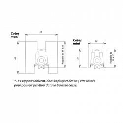 Chariot Roulette baie vitrée Kit 2 chariots simple roulette rénovation coulissant alu