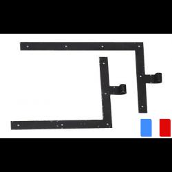 Penture équerre pour volet bois LES DOLMENS oeil 16 300x400 haut gauche ou bas droit PDA 55003