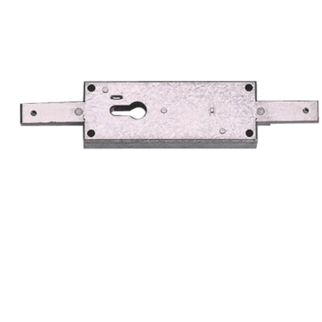 Serrure portail, garage ou  rideau métallique TI 7517-N VACHETTE - 18616000