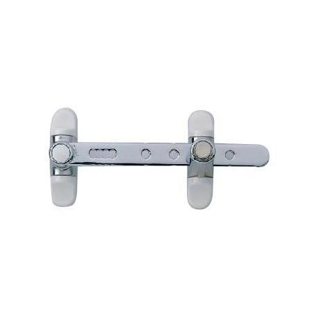 Entrebâilleur bouton poussoir pour fenêtre 1et 2 battants blanc