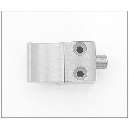 Bloqueur automatique  pour coulissant, baie vitrée - H.9.5mm - Ral 9006 Gris