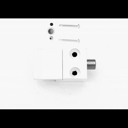Bloqueur automatique  pour coulissant, baie vitrée - H.9.5mm - Ral 9010 blanc