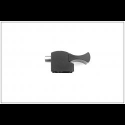 Bloqueur automatique  pour coulissant, baie vitrée - H.9.5mm - Ral 9005 noir