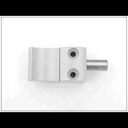 Bloqueur automatique  pour coulissant, baie vitrée - H.19 mm - Ral 9006 Gris