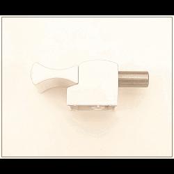 Bloqueur automatique  pour coulissant, baie vitrée - H.19 mm - Ral 9010 blanc
