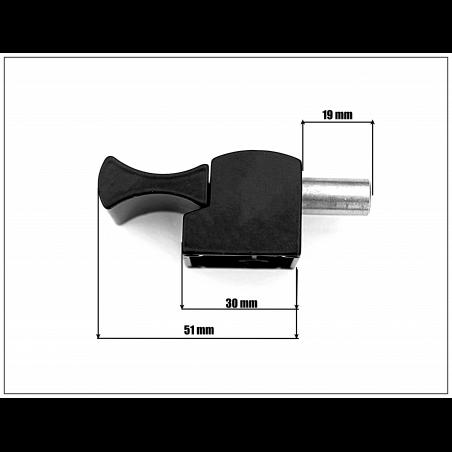 Bloqueur automatique  pour coulissant, baie vitrée - H.19 mm - Ral 9005 noir