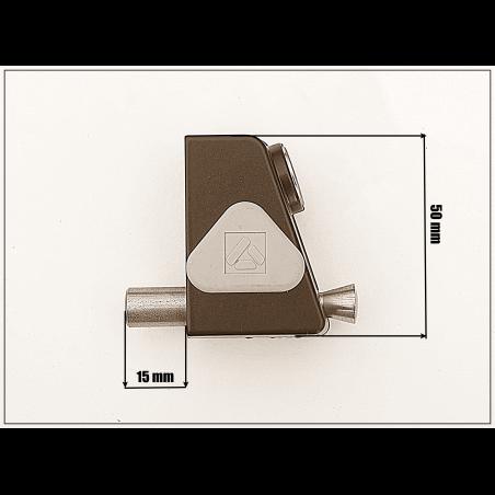 Bloqueur à clé  pour coulissant,baie vitrée - Noir EHA85052