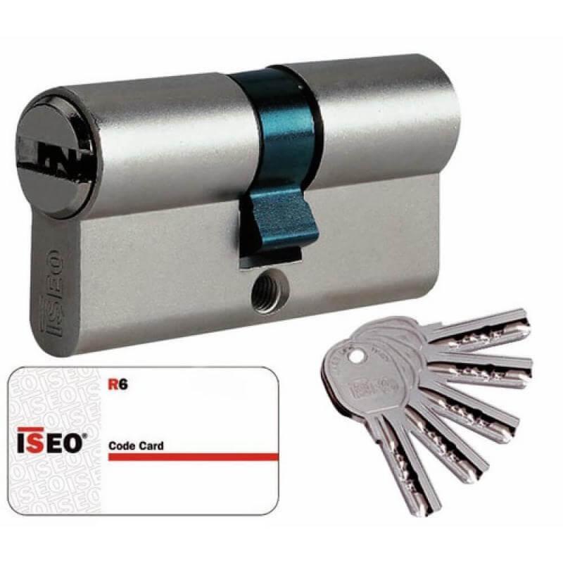 Demi Cylindre pour porte de garage 30X10 A PANNETON INDEXABLE Laiton Nickelé ISEO ISR6 VARIE - 880930109