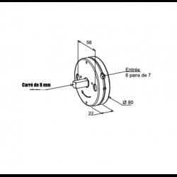 Treuil de volet roulant minivis