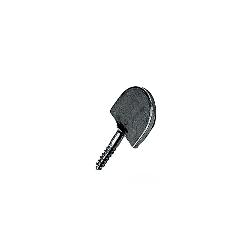 Butée de volet plate à visser TORBEL - Dardenne - Droite à vis Ø7 - Noir - 0710564