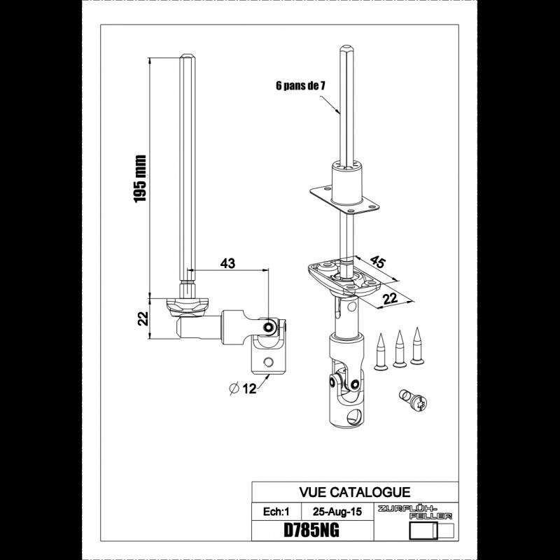 Sortie de caisson, bloc guide genouillère blanc D785NG
