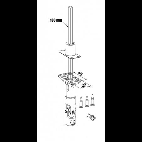 Sortie de caisson, bloc guide genouillère blanc D773NG