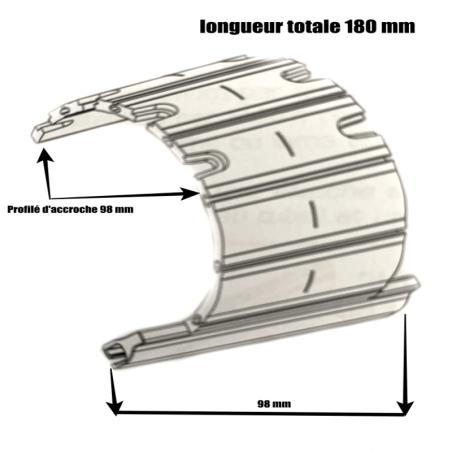 Attache volet roulant  rigide  à visser D1806-M