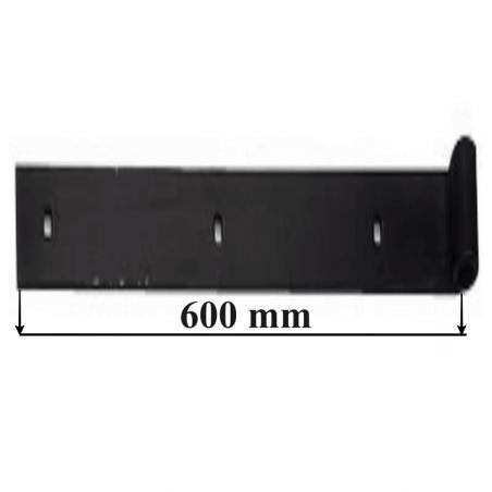 Penture ordinaire oeil Ø16 mm pour volets bois CAT LES DOLMENS - 40x5 mm - Noir 600 mm PDA50013