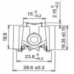 Chariot galet double roulettes réglable pour coulissant, baie vitrée GAU 01260