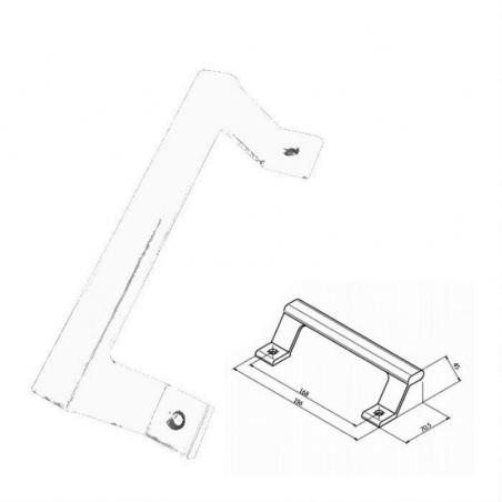 Poignée de tirage aileron pour baie vitrée,coulissante et porte - Ral 9010 blanc EHA85039