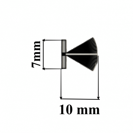 Joint brosse pour coulisse de porte de garage.DIO1277