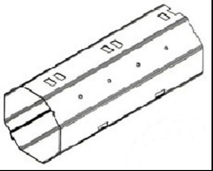 tube d'enroulement octogonal